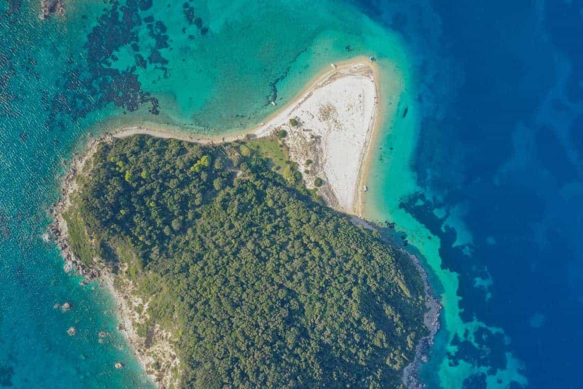 Marathonisi Islet Overhead Zakynthos