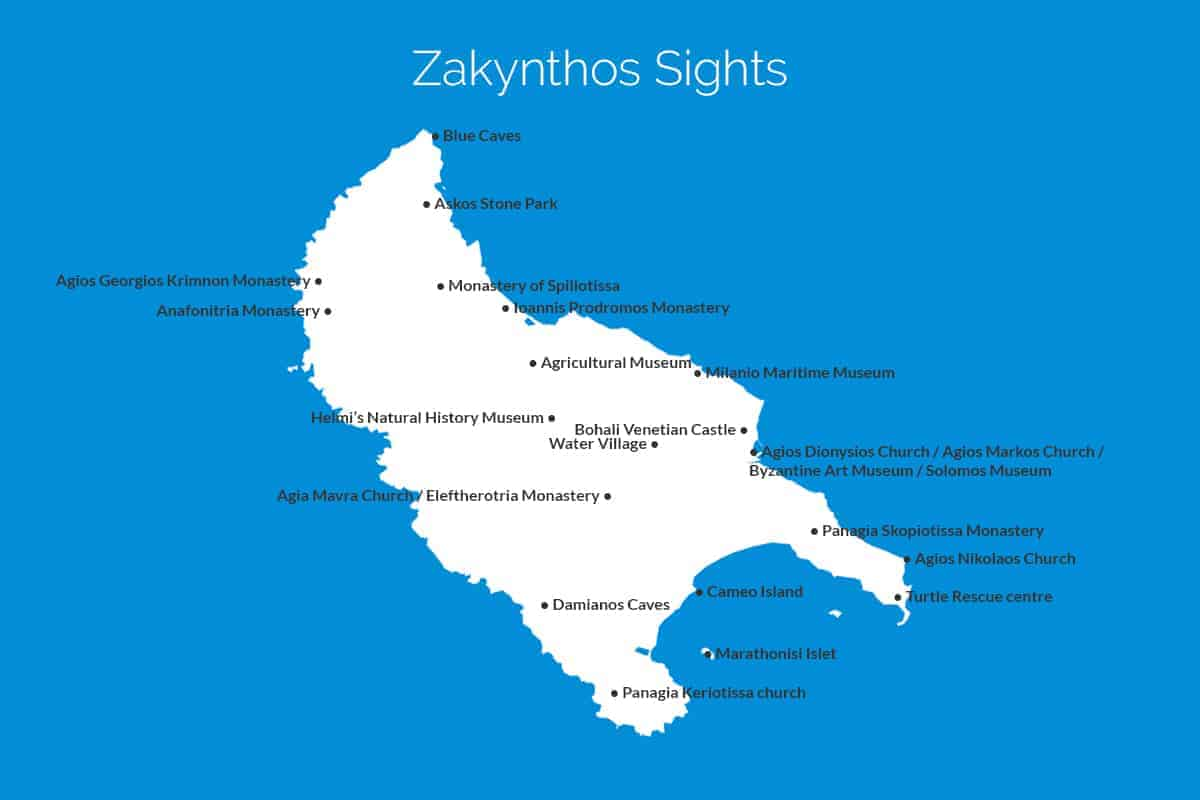 What to do in Zakynthos Zante sight seeing guide