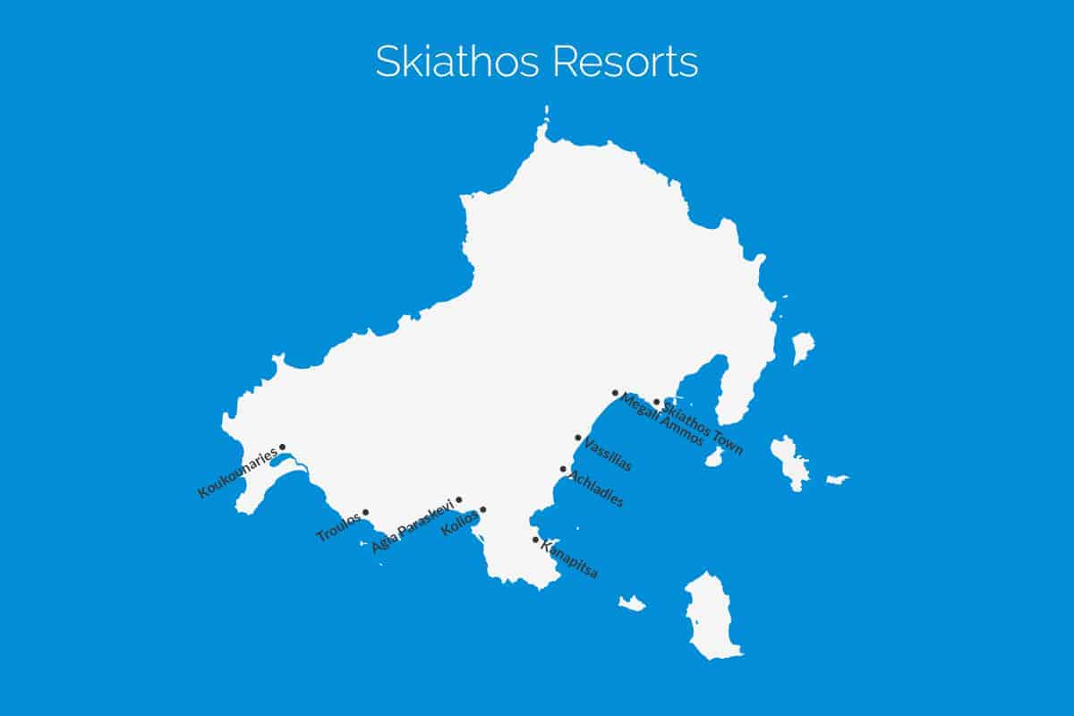 Skiathos Resort Map