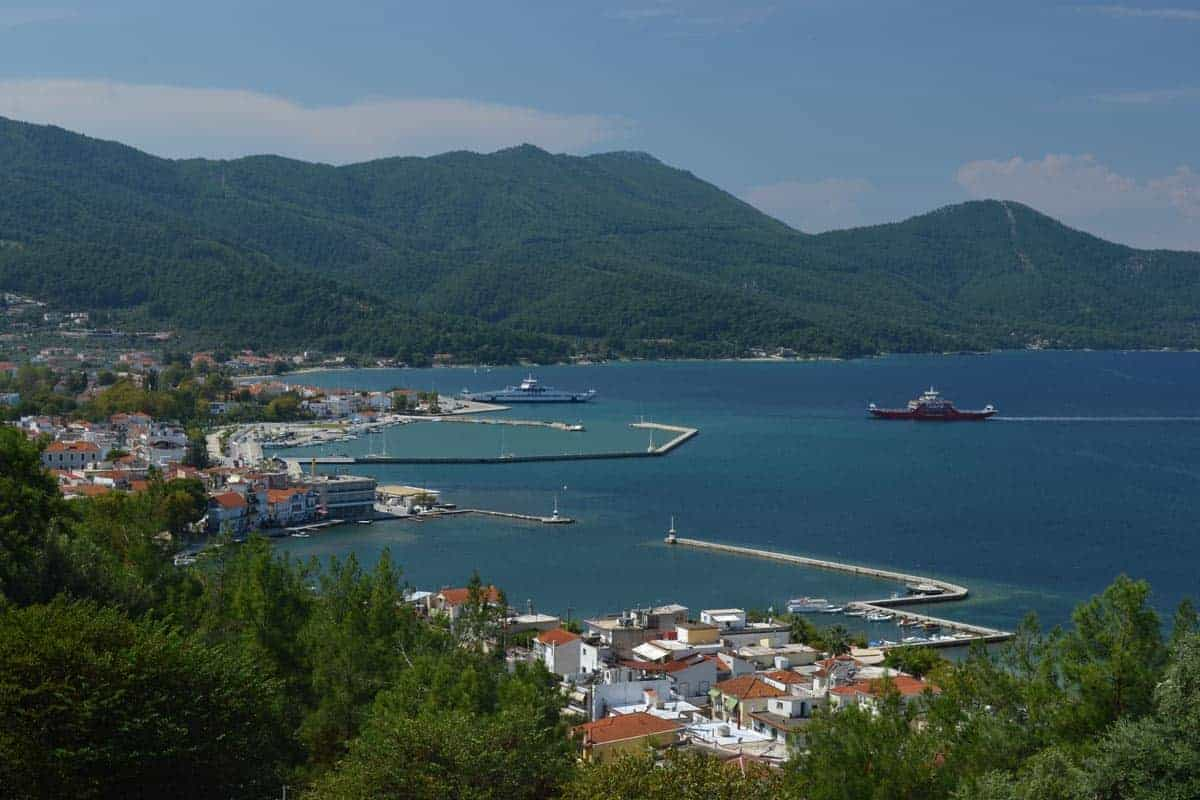 View from Acropolis Thassos