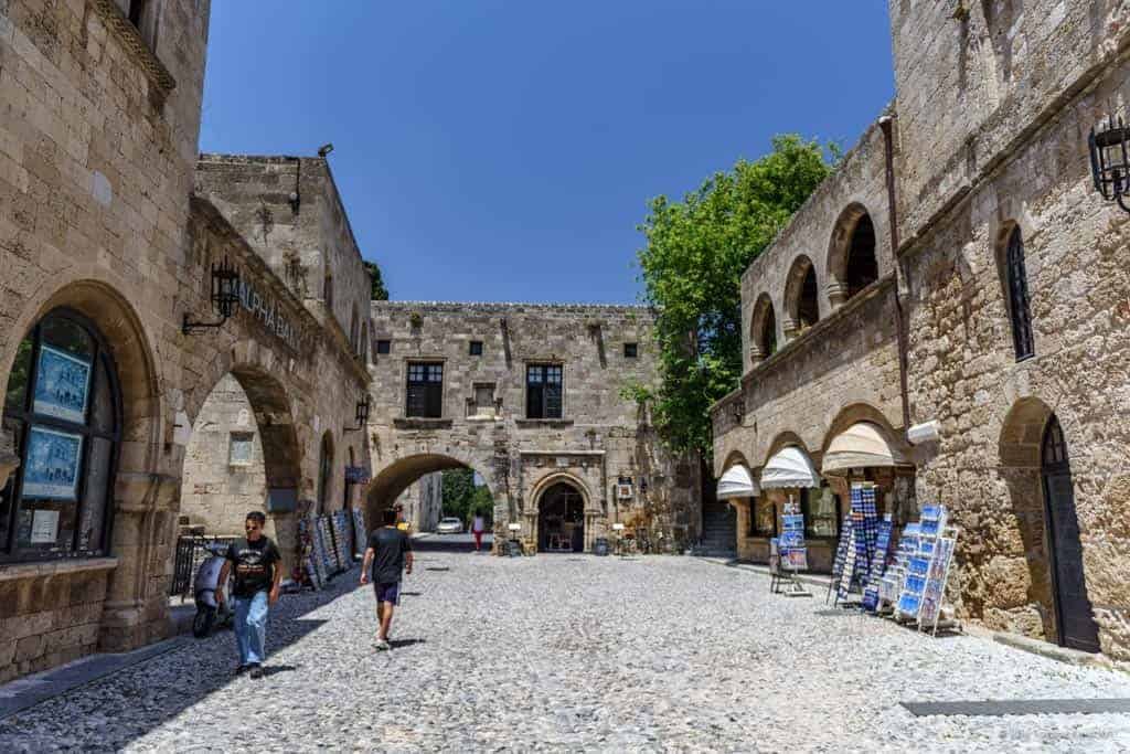 Rhodes old town streets